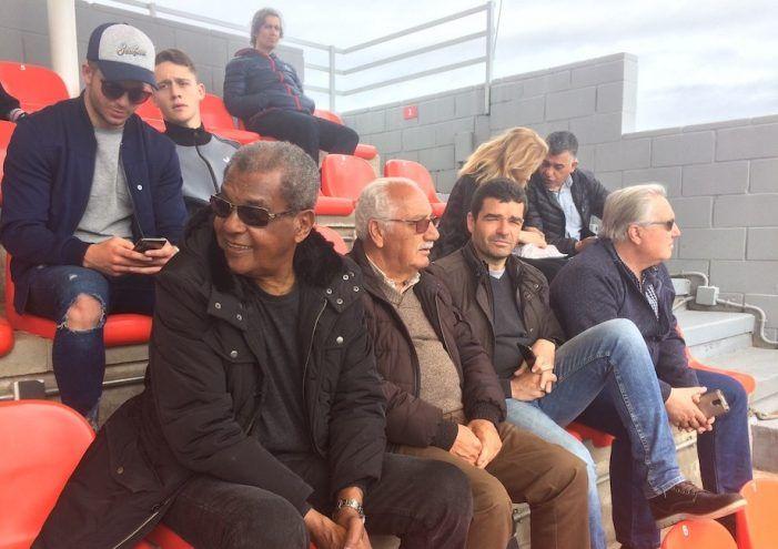 """Palmeiras de Brasil celebra el 70 cumpleaños del ex futbolista """"majariego"""" Luiz Pereira (At. Madrid)"""