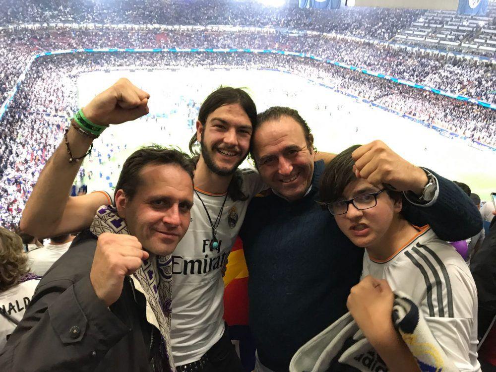 La peña familiar de Majadahonda se ha buscado la ruina pero verá la final del Real Madrid en Kiev (Ucrania)