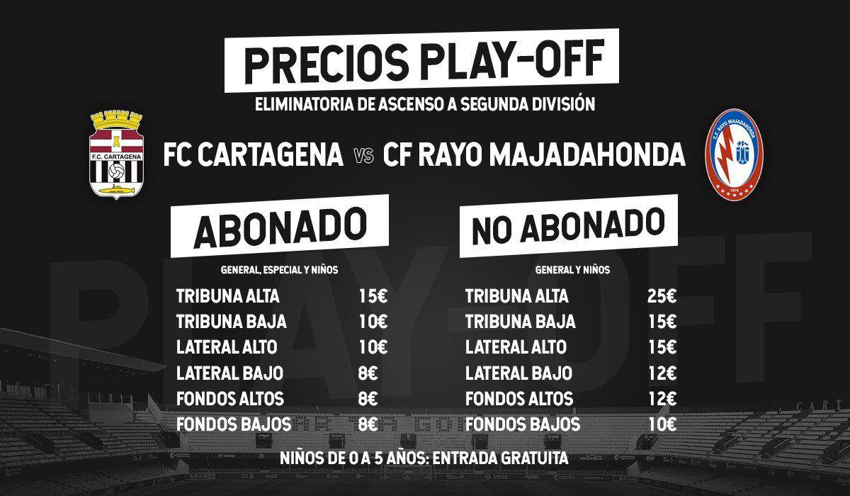 """Ayuntamiento y Rayo Majadahonda ofrecen """"viaje gratis"""" pero con entrada a 20 € en la """"jaula"""" del Cartagena"""