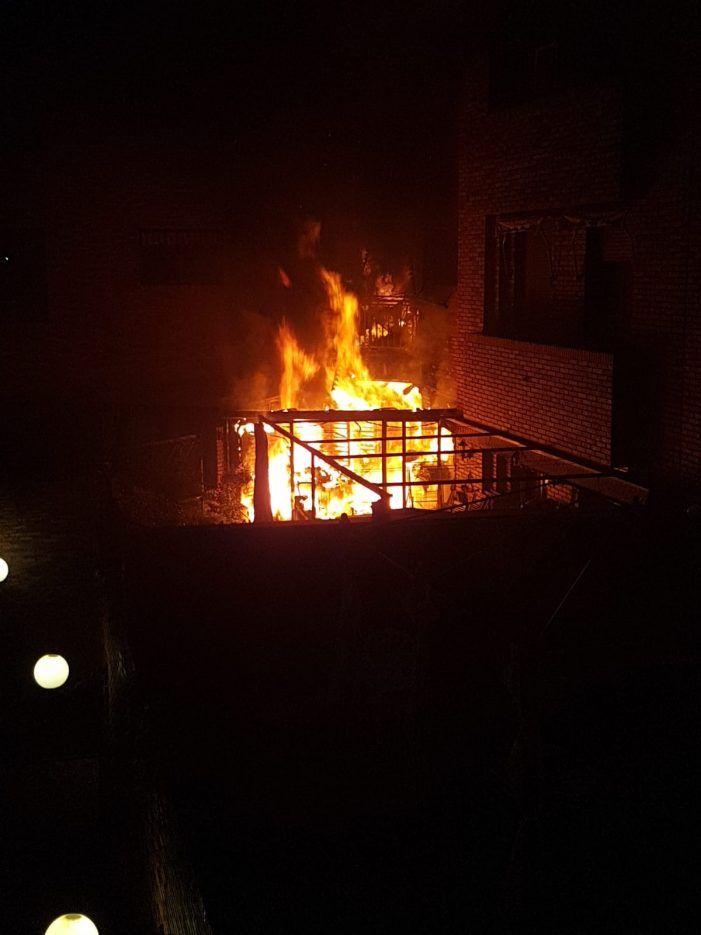 Las imágenes del devastador incendio en Majadahonda dejan testimonio de su dramatismo