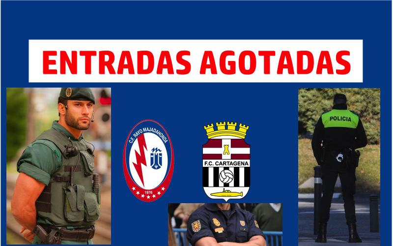 Entradas agotadas en Majadahonda: Policía no dejará mezclarse a los fans del Cartagena