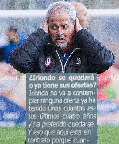 """Casto Gallardo dice que el presidente del Rayo Majadahonda """"se ha expresado mal: Iriondo tiene contrato"""""""