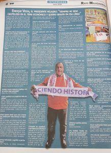 """Lea las declaraciones de Enrique Vedia en """"Informados"""": """"Iriondo está sin contrato""""."""