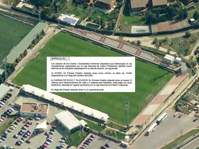 LFP concede 2 años al Rayo Majadahonda para obras y permite al Eibar un aforo de 7.000 espectadores