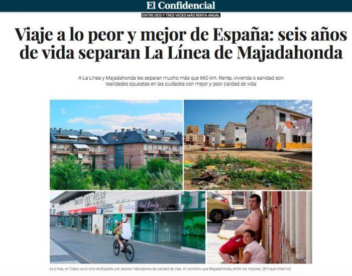 """""""Viaje a lo mejor y lo peor de España"""": Majadahonda (Madrid) frente a La Línea (Andalucía)"""
