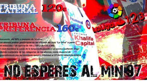 """Cartagena se siente ofendida por la campaña de abonados del Rayo Majadahonda: """"No esperes al minuto 97"""""""