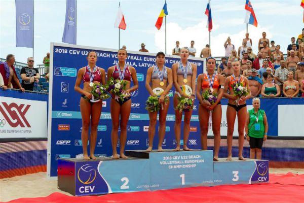 Voley Playa: Belén Carro (CV Majadahonda) y Daniela Alvarez (Asturias) consiguen en Letonia el bronce europeo frente a Italia (2-1)