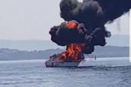 El matrimonio de Majadahonda que viajaba en el barco incendiado en Galicia se quemó el 40% del cuerpo, brazos y espalda