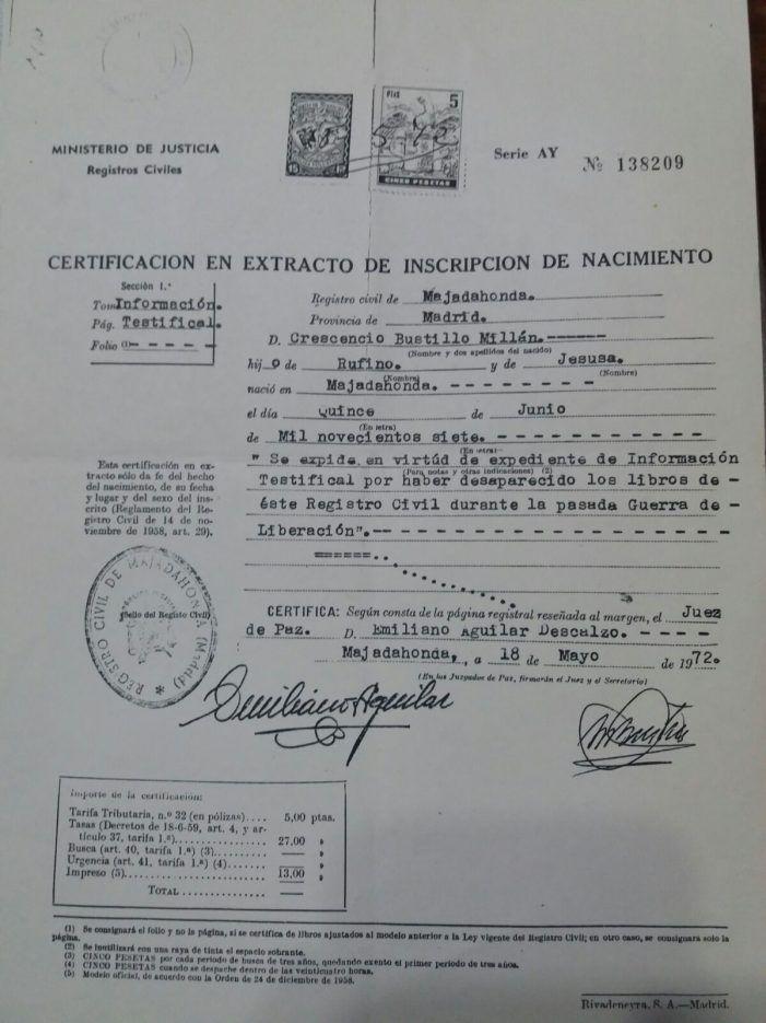 Las razones de mi original nombre: Memorias de Crescencio Bustillo (Majadahonda siglo XX)