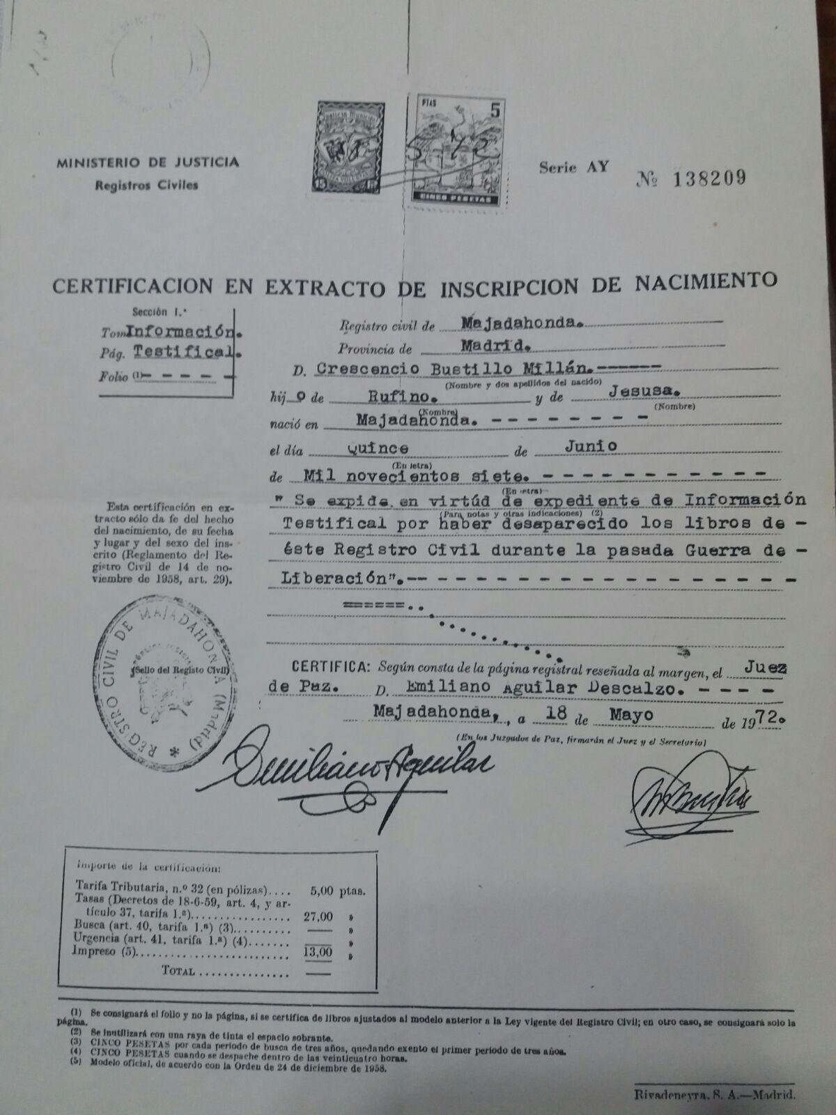 """""""Mi vida, nombre, horóscopo y rayas de la mano"""" (Memorias de Crescencio Bustillo (1907-93)"""