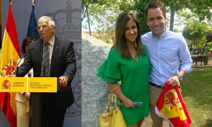 Teo Egea reparte banderas con el PP de Majadahonda: referendum contra Borrell (PSOE)