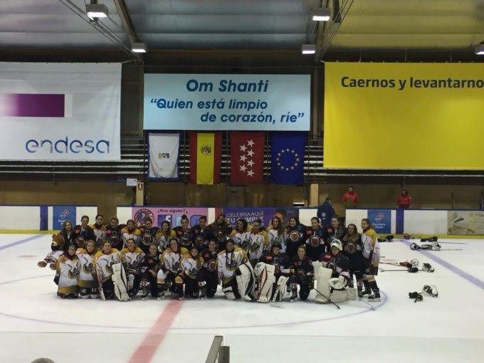 Hockey Hielo Femenino: SAD Majadahonda arrolla a las Granada Grizzlies en su debut liguero (18-0)