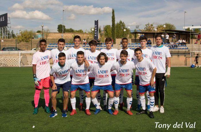 Rayo Majadahonda juvenil no defrauda y aguanta 75 minutos ante el Valladolid con un futbolista menos (0-1)