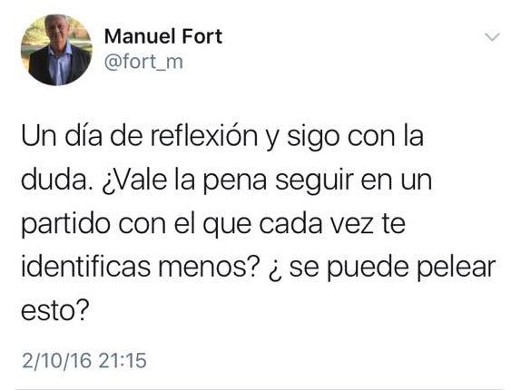 """Primarias PSOE Majadahonda: los """"tuits"""" que Fort y Zacarías ocultaron en campaña"""
