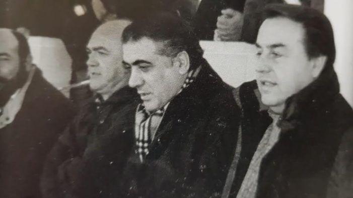"""El """"palco maldito"""" del Rayo Majadahonda: Lorenzo Sanz acompaña a Villar, Willy Ortega, Romero de Tejada y Temprado"""