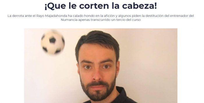 """Piden """"que le corten la cabeza"""" al """"míster"""" del Numancia tras perder con el Rayo Majadahonda: ya van 8 entrenadores despedidos"""