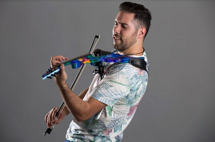 """El """"violín eléctrico"""" de """"Yorch Violinista"""" (Majadahonda) cautiva a Laura Pausini, Alejandro Sanz y Ara Malikian"""