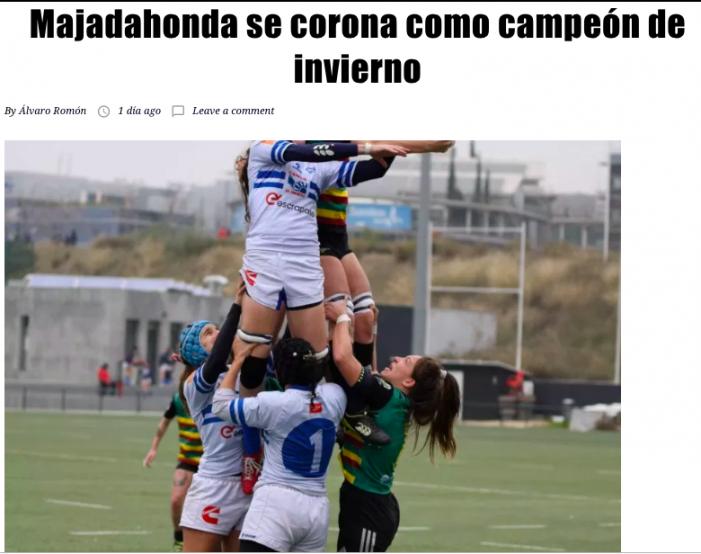 Deporte Femenino Majadahonda: CRM campeón de invierno (Rugby), SAD a por la 6ª Copa (Hockey), Sincronizado Team Mirum (Rioja y Gala Navidad)