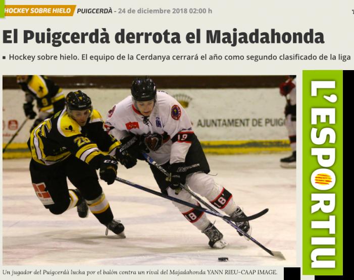 """El equipo femenino de Hockey Hielo SAD Majadahonda se proclama en Vitoria """"campeona de invierno"""" 2018"""