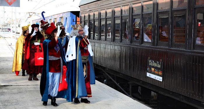 Solidarios y Navidad Majadahonda: Cruz Roja (Equinoccio), RENFE (tren navideño), control de juguetes y parking, águilas muertas (GREFA)