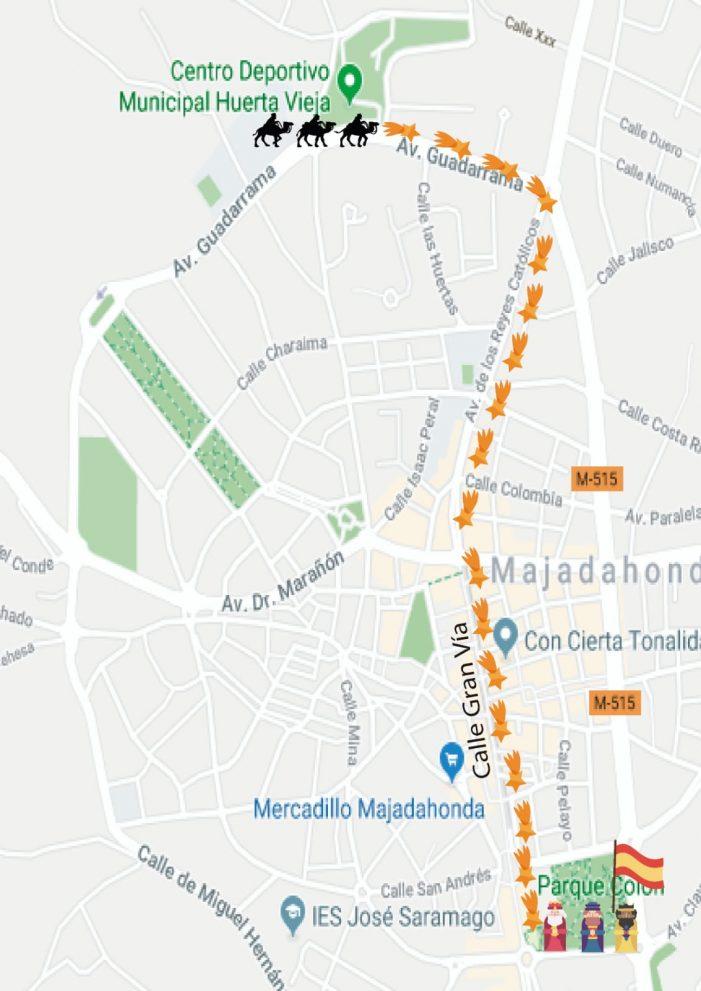 Los Reyes Magos se acercan a Majadahonda 2019: cortes de tráfico y restricciones de este sábado 5 de enero