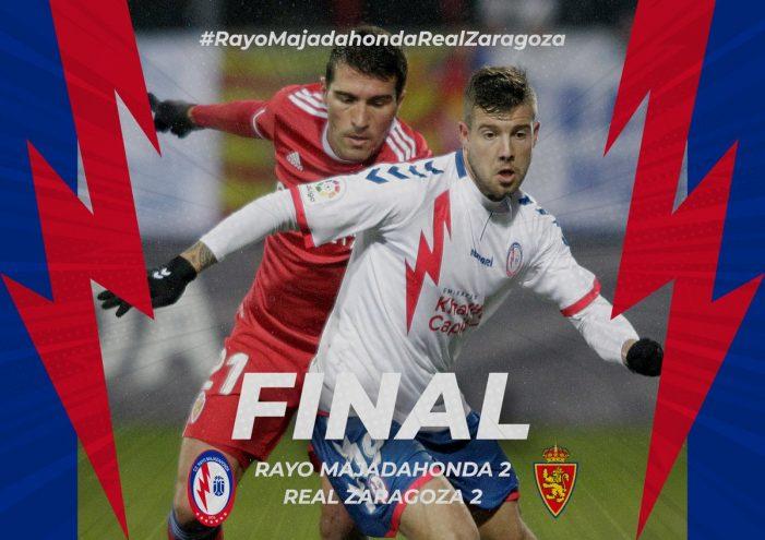 Rayo Majadahonda encuentra el gol pero se le escapan los puntos ante el Zaragoza (2-2)