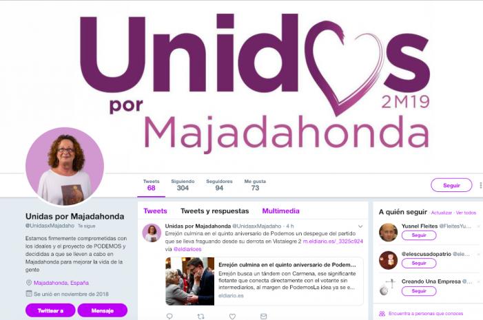 La candidata de Podemos Majadahonda sintoniza con Pablo Iglesias mientras Somos y un sector de IU se van con Iñigo Errejón