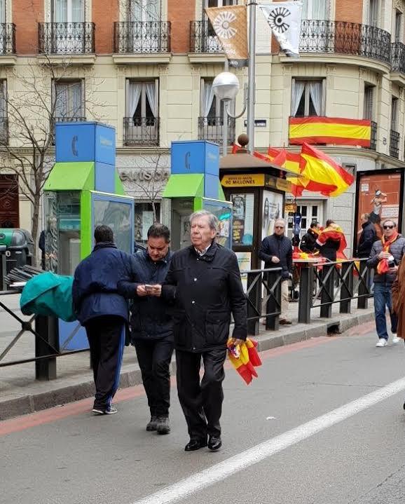 Presencias y ausencias majariegas en la masiva manifestación de Madrid por la unidad de España