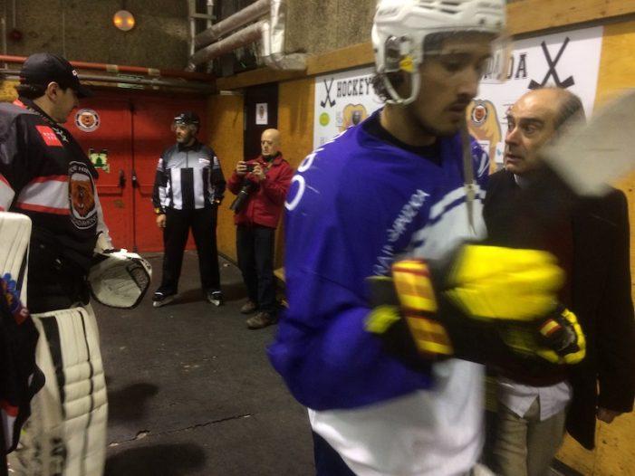 Hockey Hielo: la igualdad entre SAD Majadahonda y Txuri (1-2) deja abierta la vuelta en San Sebastián
