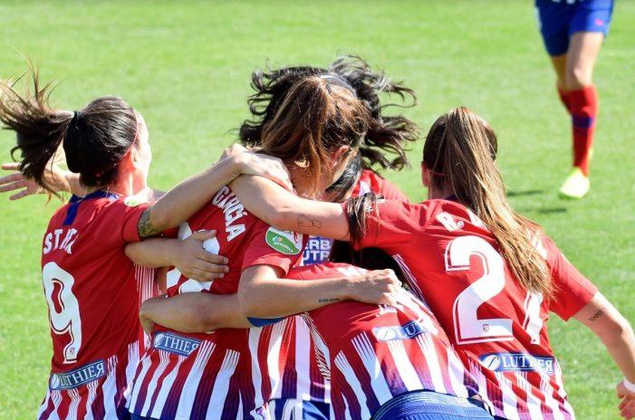 El Atlético de Madrid femenino va lanzado hacia el doblete tras su victoria ante el Barsa en el Cerro del Espino (Majadahonda)