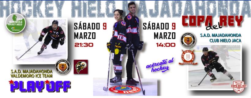 """Hockey Hielo: SAD Majadahonda deja sin """"morbo"""" al Jaca (3-0) y el femenino vuelve a la Final (9-1)"""