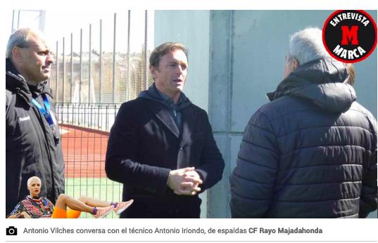 """Vilches (Rayo Majadahonda): """"si Iriondo tiene una oferta"""" se va porque """"nunca ha competido en 2ªA"""""""