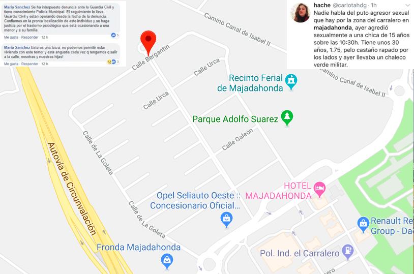 """Una nueva agresión sexual a una menor de 15 años sacude Majadahonda y causa """"temor"""" y """"angustia"""" entre las mujeres"""