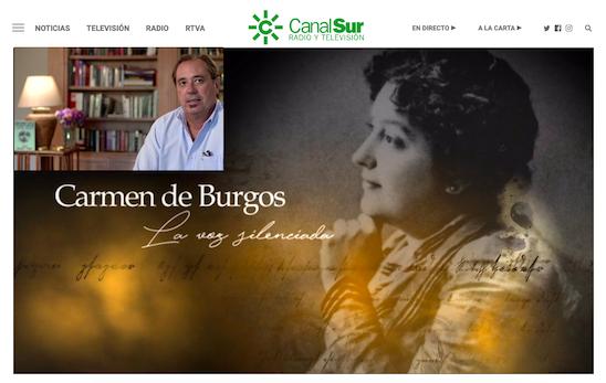 """Canal Sur estrena la película """"Carmen de Burgos, la voz silenciada"""" con la intervención de Federico Utrera"""