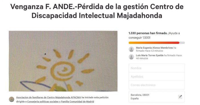 """Conflicto laboral en la Fundación ANDE con discapacitados en Majadahonda: la acusan de """"venganza"""" en """"Change.org"""""""