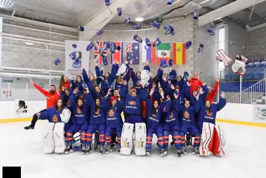 Hockey Hielo Femenino: España consigue el bronce en Gran Bretaña 2019 con 2 últimos goles de las majariegas