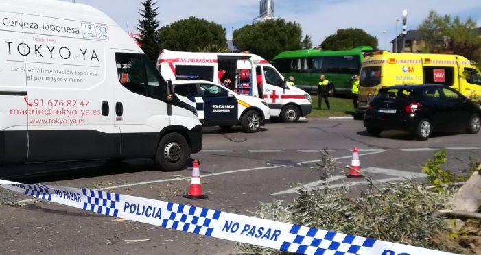 2 heridos al chocar el bus Majadahonda 685 tras desmayarse el conductor