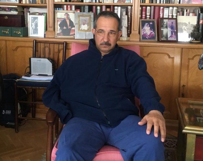 Pablo Vidal (Colectivo de Prensa de Majadahonda) sufre un aparatoso accidente de moto que le fractura la clavícula
