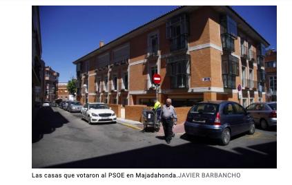 """""""El Mundo"""" radiografía la """"aldea gala"""" de Majadahonda a través de 5 votantes de PP, Cs, PSOE y Vox"""