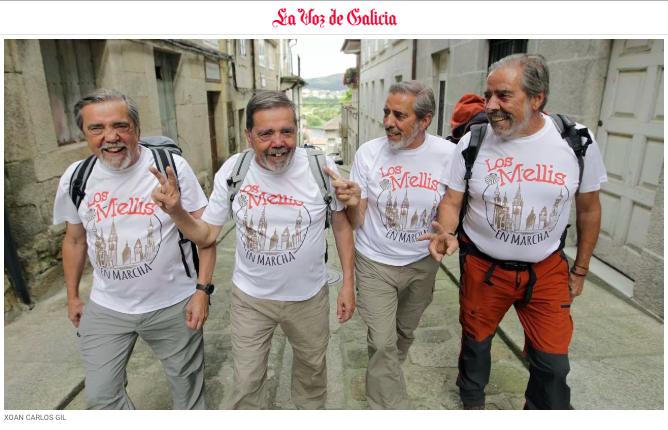 """""""Los Mellizos de Majadahonda"""" se hacen famosos recorriendo el """"Camino de Santiago"""""""