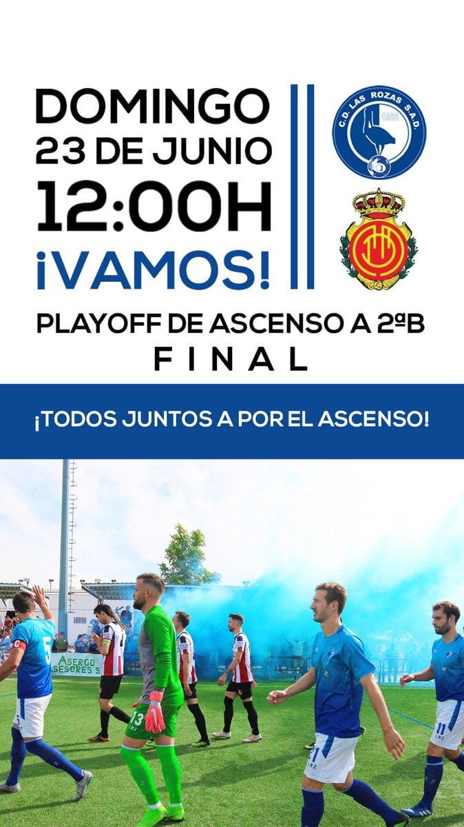 Las Rozas prepara su histórico partido por el ascenso a 2ªB frente al Mallorca