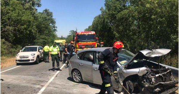 Llegan a Majadahonda 2 de los 6 heridos por accidente de tráfico frontal en El Escorial