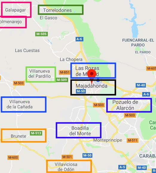 Análisis: las medidas sanitarias en Pozuelo, Boadilla, Majadahonda y Galapagar