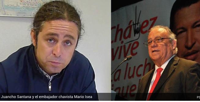 El ex concejal de IU Majadahonda Juancho Santana vuelve a la embajada de Venezuela con Maduro