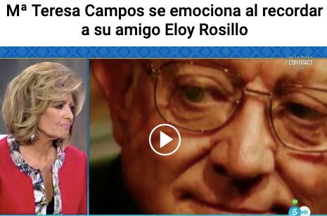 """Eloy Rosillo, pionero del """"outing"""" gay en España y su relación con Mª Teresa Campos (VI)"""