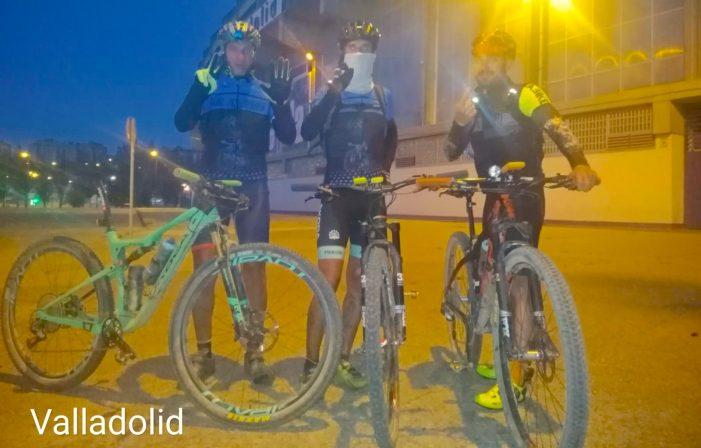 Ciclismo Extremo Majadahonda: José Luis Martínez termina con boca y garganta abrasadas pero logra unir Castilla en bici