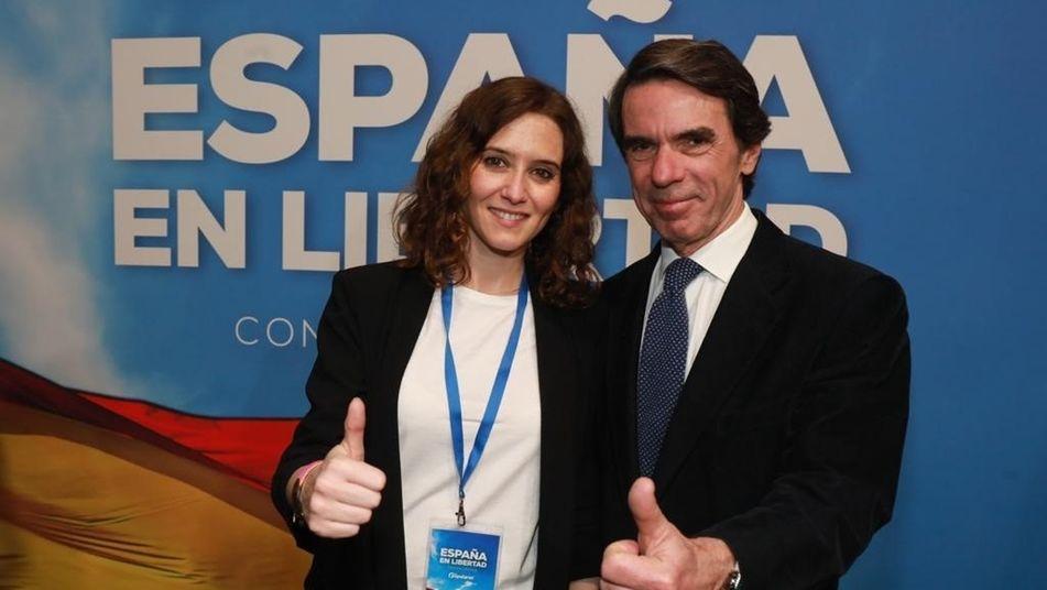 """El nuevo """"clan de Majadahonda"""" pasa a manos del PP y lo capitanea la presidenta Ayuso con Aznar y MAR al fondo"""