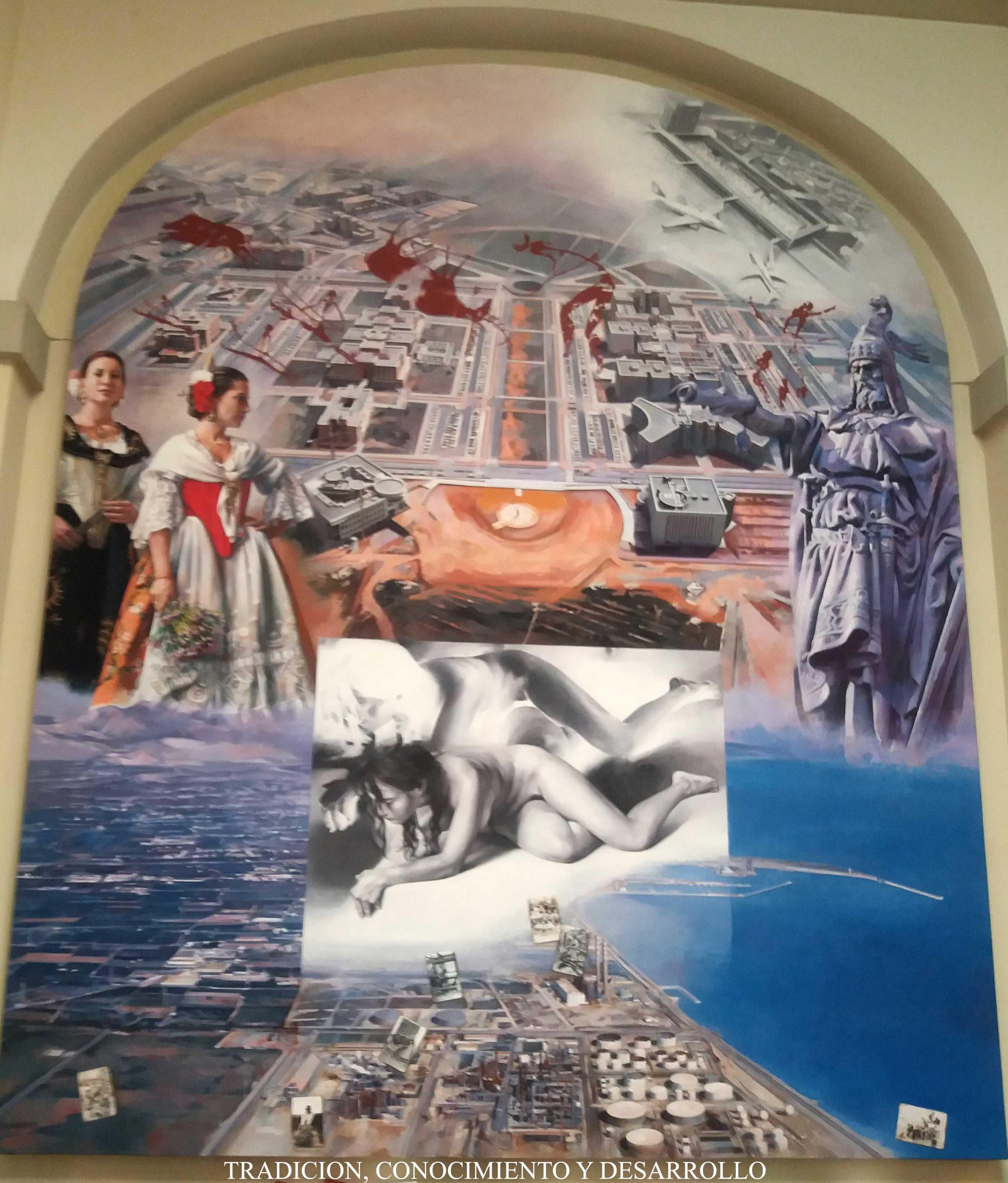 """Castellón exhibe la """"Capilla Sixtina"""" de Fabra en la Diputación, obra del artista Vicente Traver"""