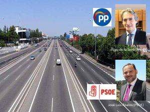 PP y PSOE preparan un pacto para cobrar por el uso de la autovía A-6 del Oeste de Madrid
