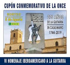 La Guitarra de Casasimarro (Cuenca) celebra su 275º Aniversario con un cupón de la ONCE